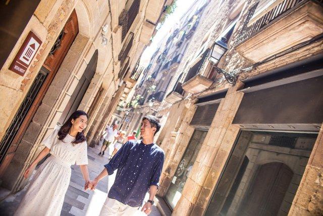 바르셀로나 고딕지구 스냅촬영 한시간 진행코스 투어