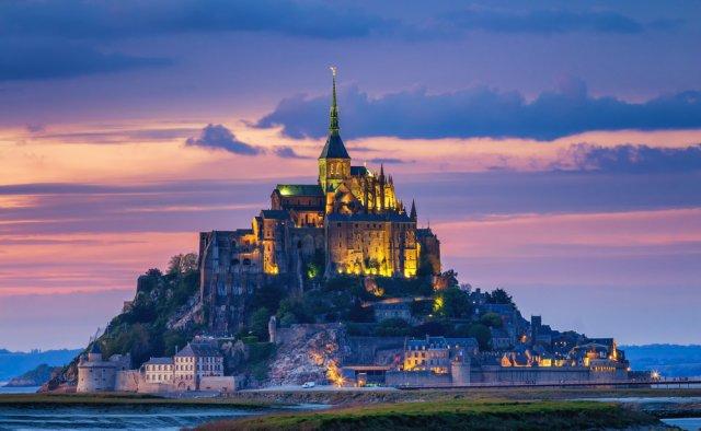 별이 빛나는 몽생미셸]Real 전문 가이드! 몽생미셸 야경+에트르타+옹플뢰르