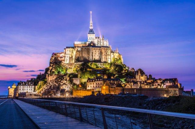 몽생미셸(야경)투어 (에타르타-옹플레-몽생미셸-야경) ,파리워킹 1만원  이벤트!!
