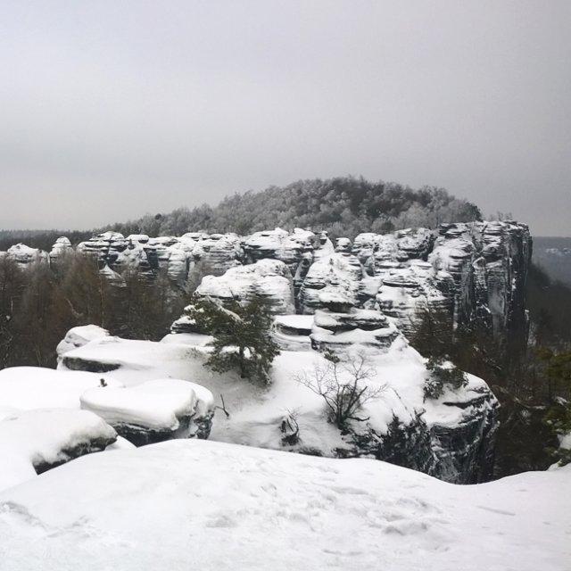 [프라하근교]겨울에 떠나는 자연 힐링여행!! 나니아 트레킹/보헤미안 스위스 겨울트레킹