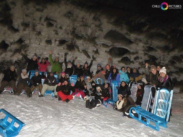 겨울 1위, 재밌고 스릴있는 야간 썰매 투어 in 인터라켄